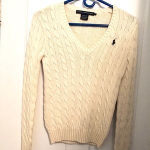 Ralph Lauren Sport Cotton V Neck Sweater